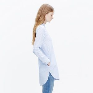 nwt madewell button stripemix pocket tunic - small